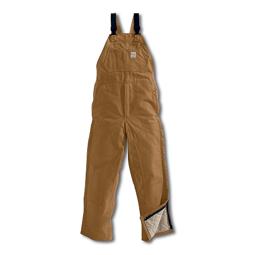 Carhartt Style #: FRR44 Men�s Flame-Resistant Duck Bib Overall/Quilt Lined FRR44